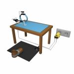 051 Erdungskable für Bodenmatten
