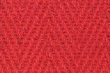 Kokos  roter Teppich-Extra uni rot Fischgrat